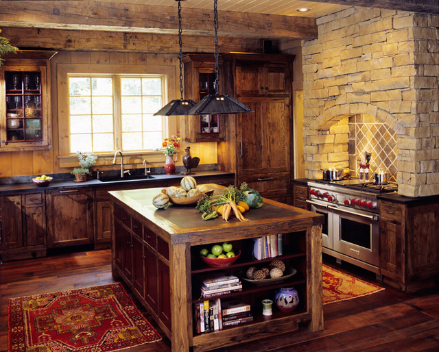 Mountain Cabin Traditional Kitchen Other Metro By Johnson Architecture
