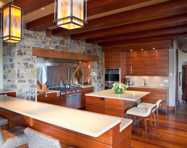 Mountain Contemporary Cabin Contemporary Kitchen San Diego By Laura Abrams Design