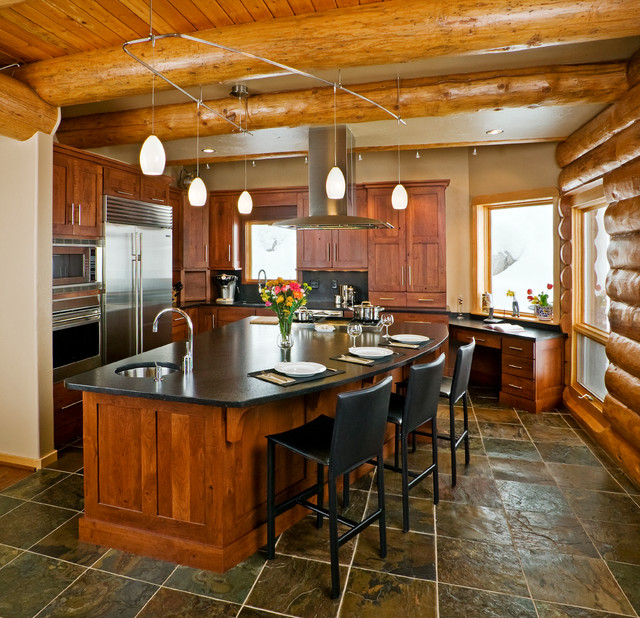Mountain Contemporary Home Rustic Kitchen Denver By Cbnt Co