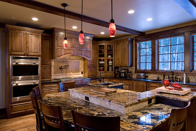 Mountain Gourmet Kitchen Traditional Kitchen Other Metro By Julie Dreiling Interiors Llc