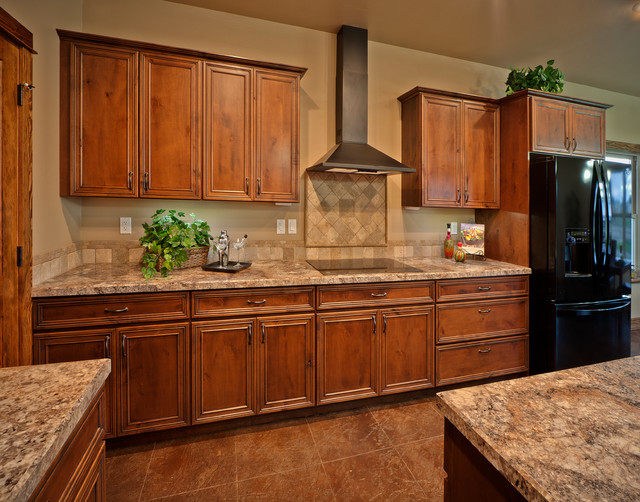 Mountain home remodel traditional kitchen other for Mountain home kitchens