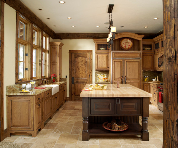 Mountain Living Home traditional-kitchen