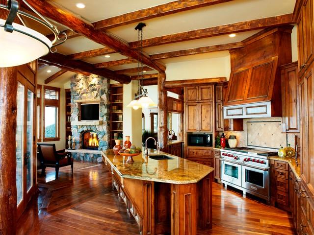 Mountain Log rustic-kitchen