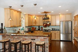 Modern Traditional Kitchens mountain primitive modern - traditional - kitchen - seattle -