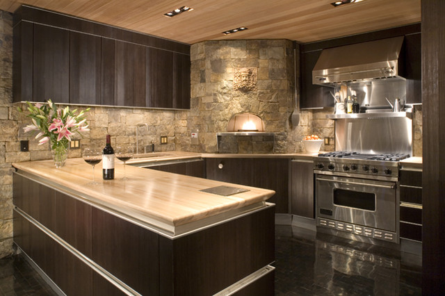 Mountain queen contemporary kitchen denver by for Mountain modern design