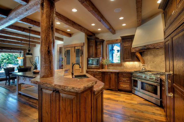 Mountain Ranch Rustic Kitchen Denver By Landmark