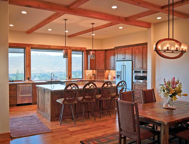Mountain resort custom home heber city utah rustic for Kitchen design utah