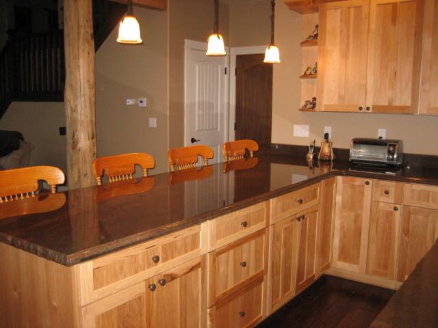 Mountain Retreat Hickory Kitchen traditional-kitchen