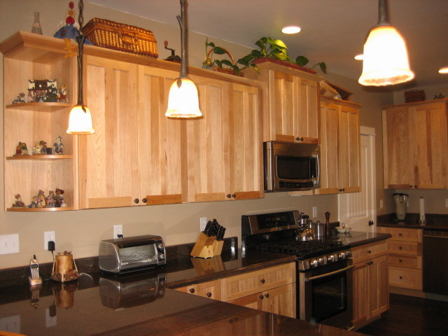 Mountain Retreat Hickory Kitchen Traditional Kitchen Los - Hickory shaker style kitchen cabinets