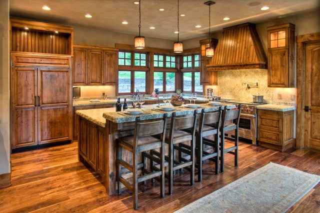 Mountain Rustic Rustic Kitchen Other By Bear Mountain Builders