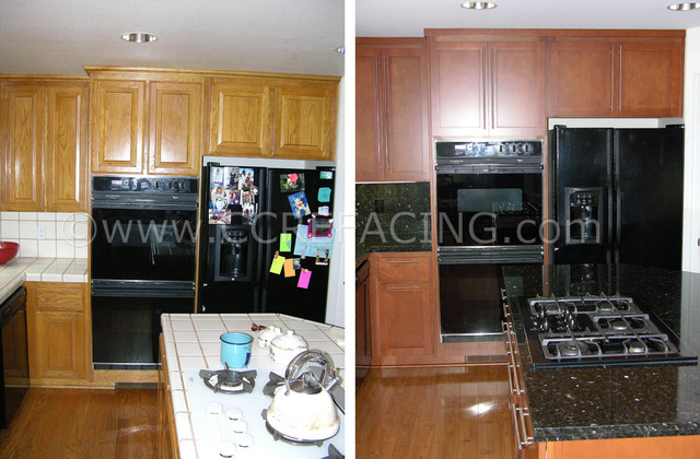 Mountain View Kitchen Reface 1     Before & After modern-kitchen