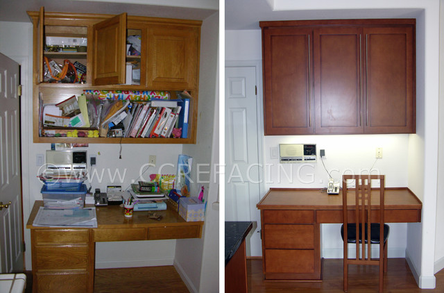 Mountain View Kitchen Reface 1 Before & After - Modern ...
