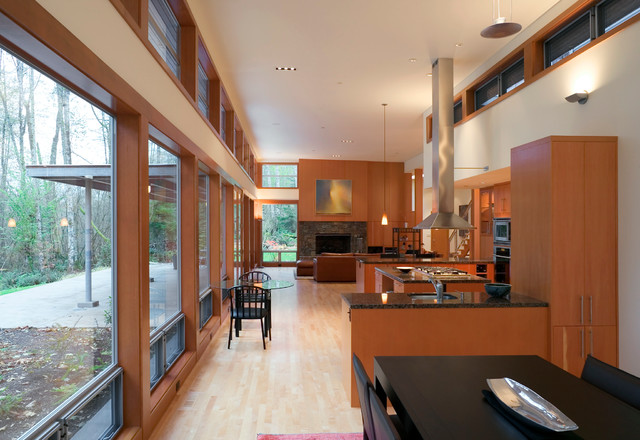 Mountain Vista Residence - Kitchen and Great Room from Dining Room contemporary kitchen