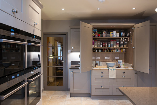 Mr mrs r kitchen sutton green transitional kitchen surrey by raycross interiors Kitchen design companies in surrey