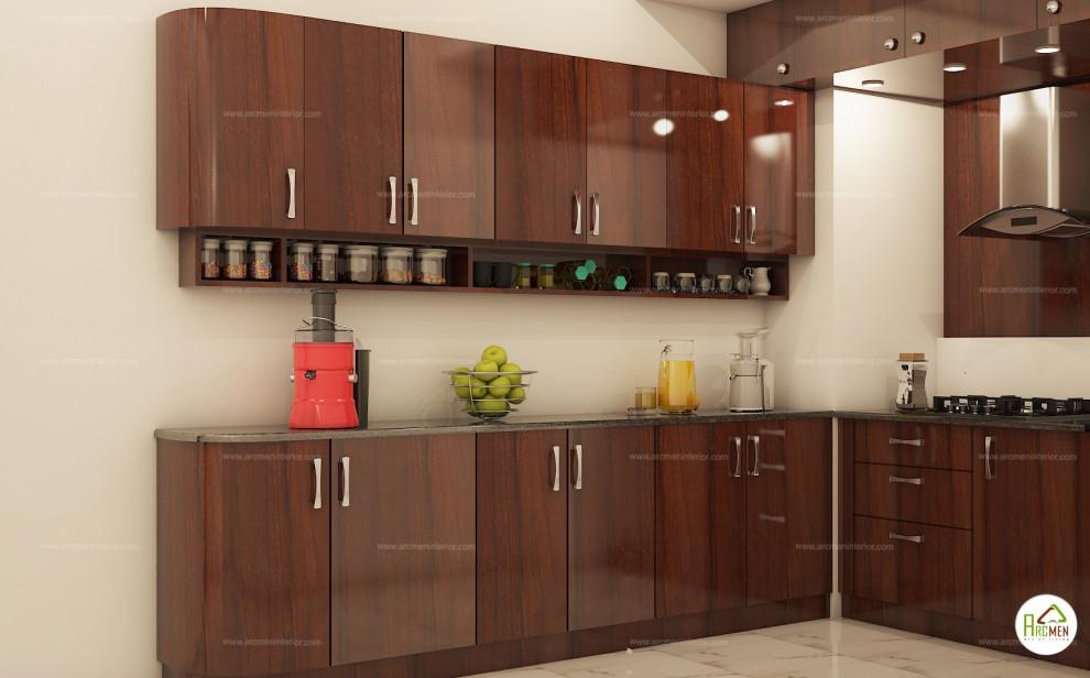 Mr Bala 2bhk Appartment Interior Design Indian Kitchen Chennai By Arcmen Kitchens And Interiors