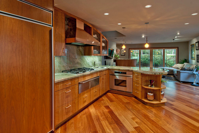 Multi-floor remodel:  kitchen, bath, living, dining contemporary-kitchen