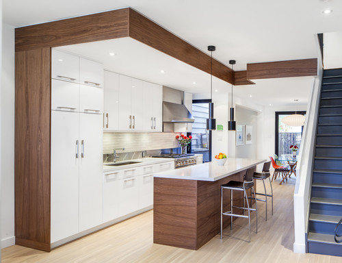 Input on walnut and white kitchen design question for Kitchen design questions