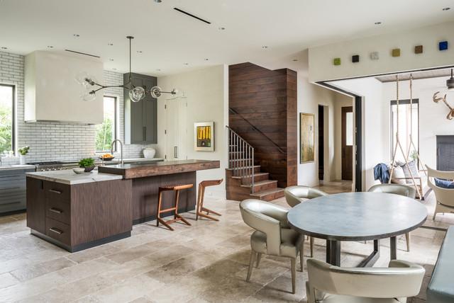 Museum District Contemporary Kitchen Houston By Mann Designs