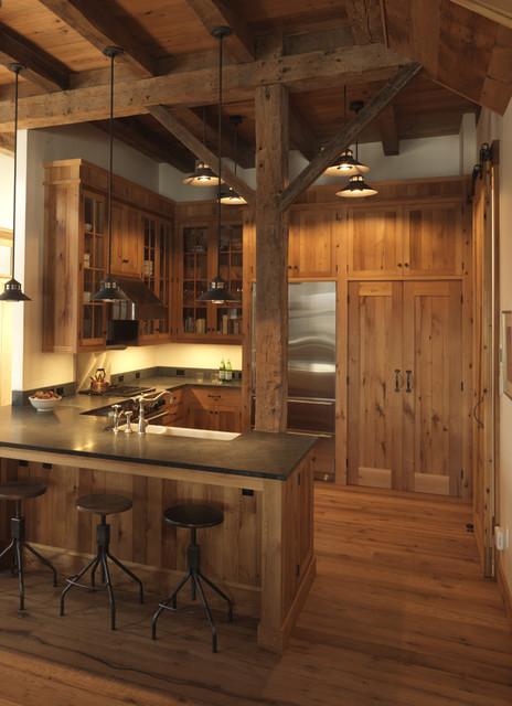 Music Barn rustic-kitchen