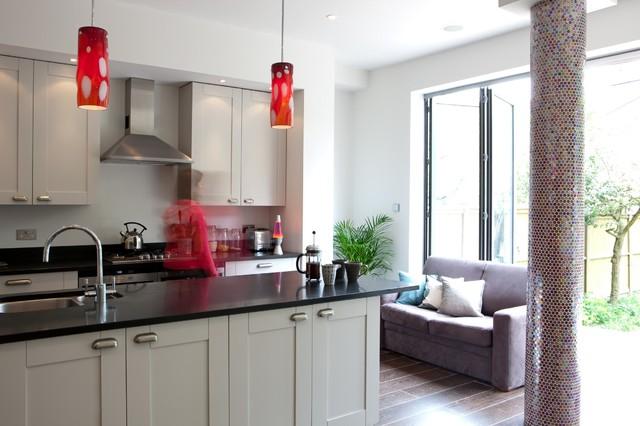 Amanda Neilson Interiors  C B Interior Designers Decorators Muswell Hill Kitchen Dining Room Contemporary Kitchen