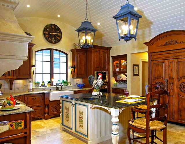 My favorite french country kitchen traditional kitchen for Country kitchen decor