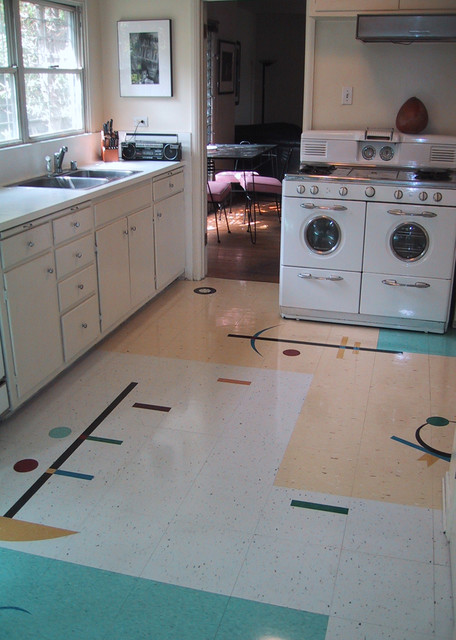 ... Floor - Midcentury - Kitchen - Los Angeles - by Crogan Inlay Floors