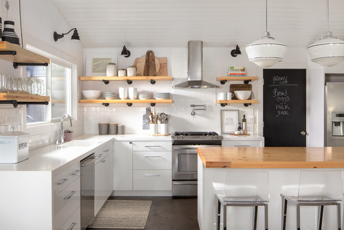 Fewer Materials And Easier Installation Make Open Shelving An Affordable  Option If You Want To Remodel Your Kitchen.