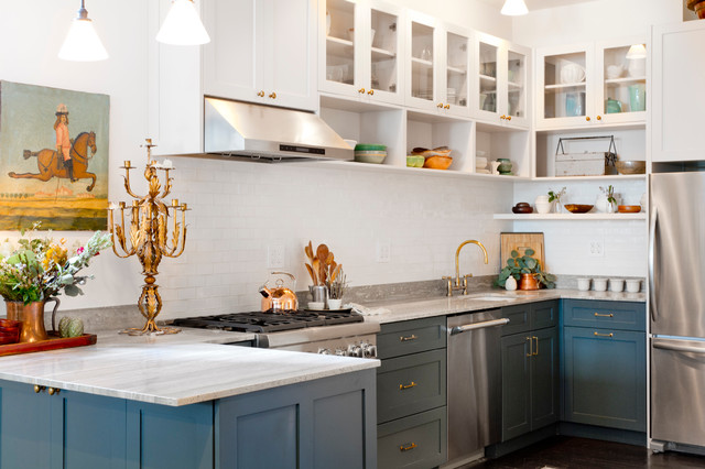 My Houzz 5th Ave Apartment Transitional Kitchen New