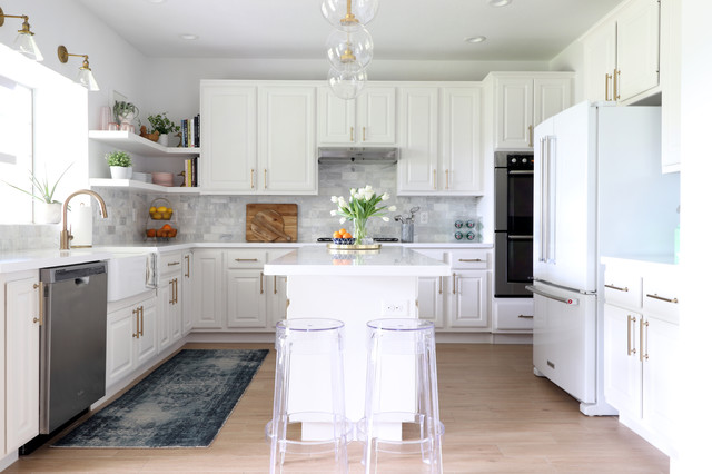 My Houzz Bright White And Color In Austin Transitional