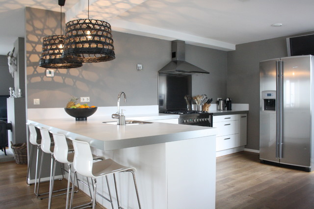 My houzz country chic family home in the netherlands for Houzz cucine