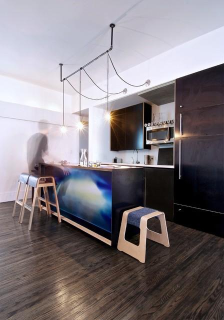 My Houzz: Creative Open-Concept Home in Toronto industrial-kitchen