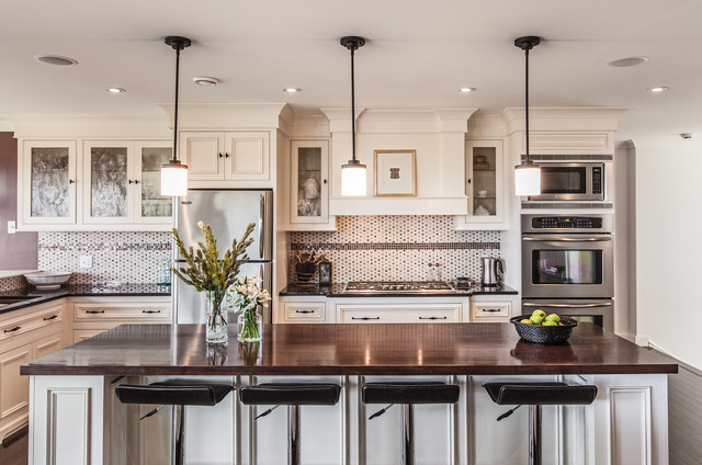 My Houzz: Custom Transitional Home With Ocean View transitional-kitchen