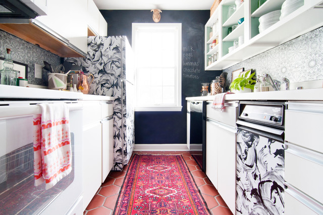 My Houzz: Dupont Circle CondoMy Houzz: Color, Hope and Light in a Redesigned D.C transitional-kitchen