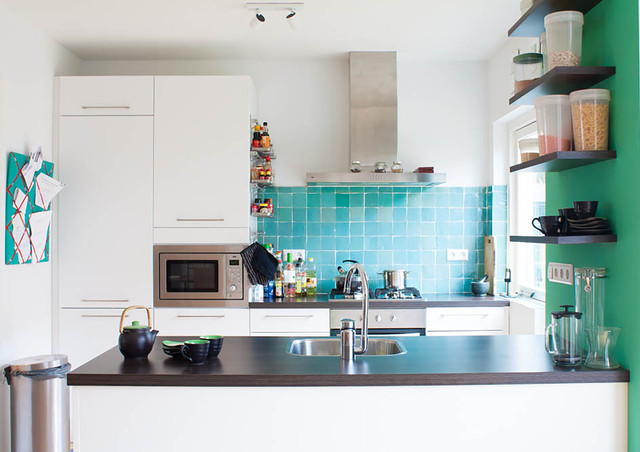 green kitchen cabinets pictures my houzz ethnic influences color a home eclectic 4002