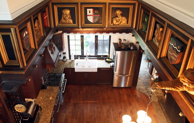 My Houzz: Medieval estate gets a stylish update in a quiet Montreal suburb eclectic-kitchen