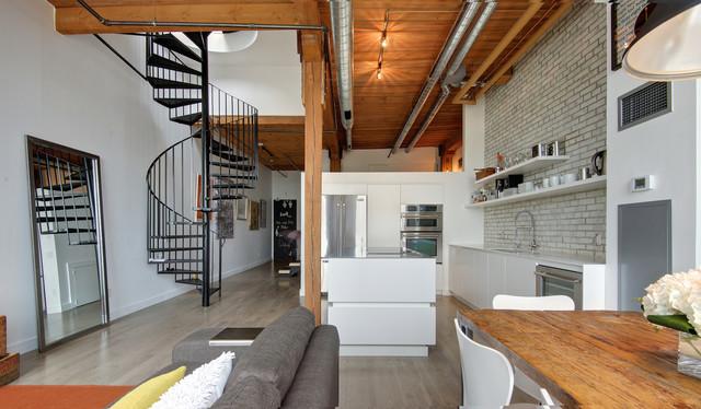 My houzz modern industrial loft in toronto industriale for Houzz cucine