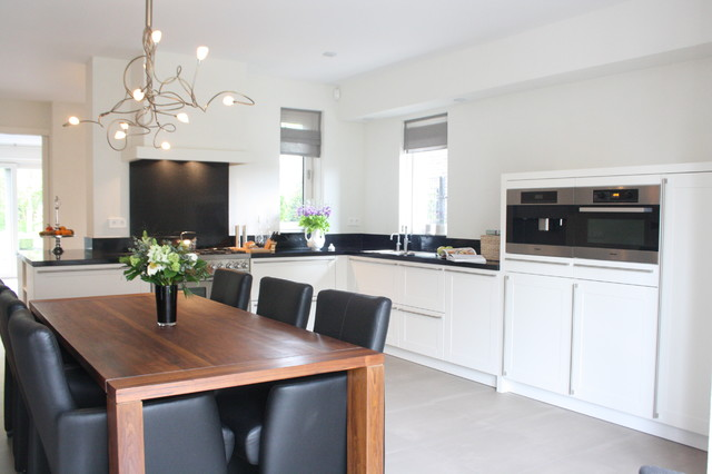 My houzz modern meets traditional in the netherlands modern kueche