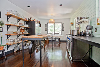 kitchen remodeling ideas using shelving & furniture