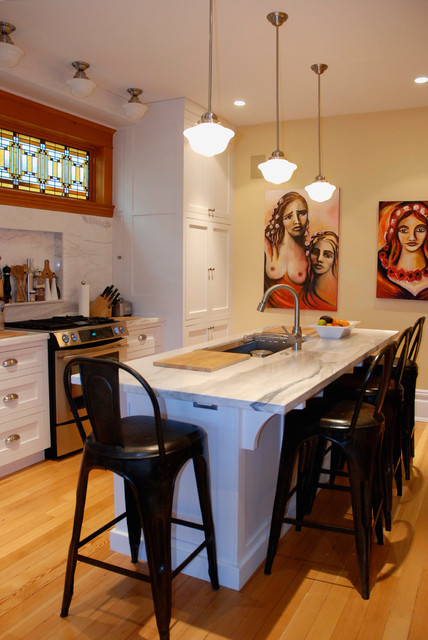 Transitional Kitchen by Heather Merenda
