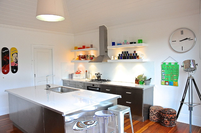 Ikea Cabinet With Glass Doors ~ Woodside  Eclectic  Kitchen  Adelaide  by Luci D Interiors