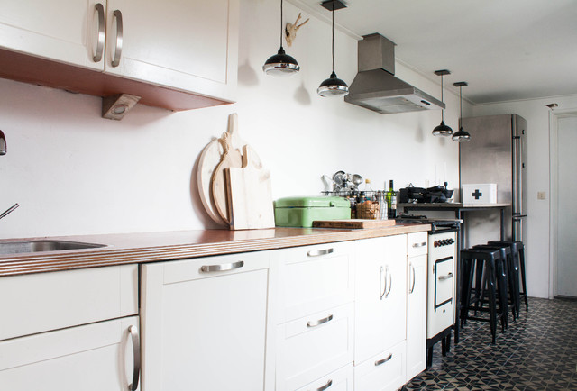 My Houzz: Robust Metal elements make a Dutch family's home eclectic-kitchen