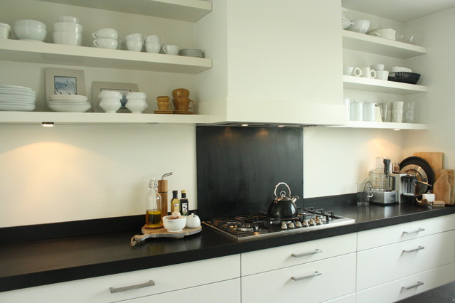My Houzz: Sophisticated Family Home Breathes Scandinavian Style contemporary kitchen