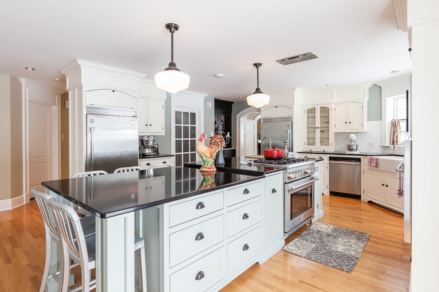 Transitional Kitchen Photo In Other With Stainless Steel Appliances