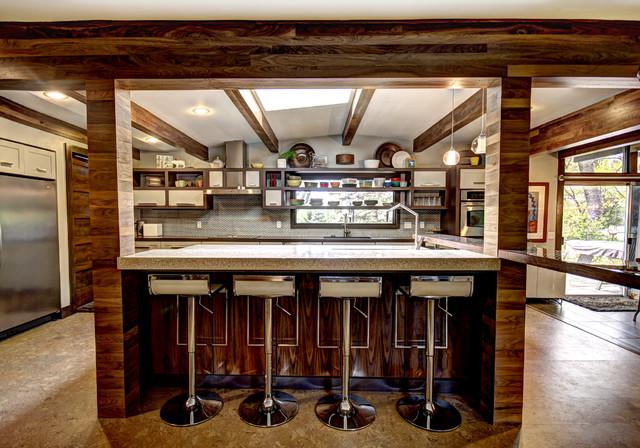 My love of Walnut - Midcentury - Kitchen - Grand Rapids ...