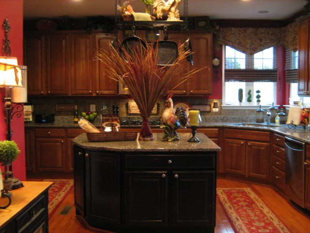 My Red Black Kitcheneclectic Kitchen Dc Metro