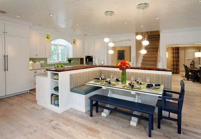 Nantucket Inspired Remodel And Furnish Contemporary Kitchen