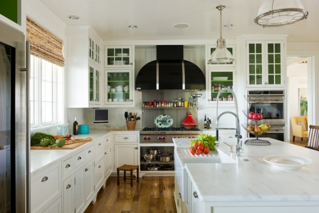 Nantucket residence beach style kitchen boston by for Nantucket style kitchen