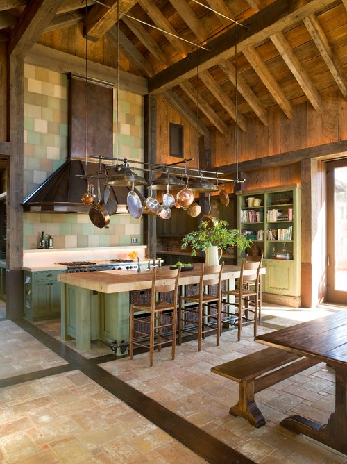 traditional kitchen Maximize Kitchen Space with Pot Racks