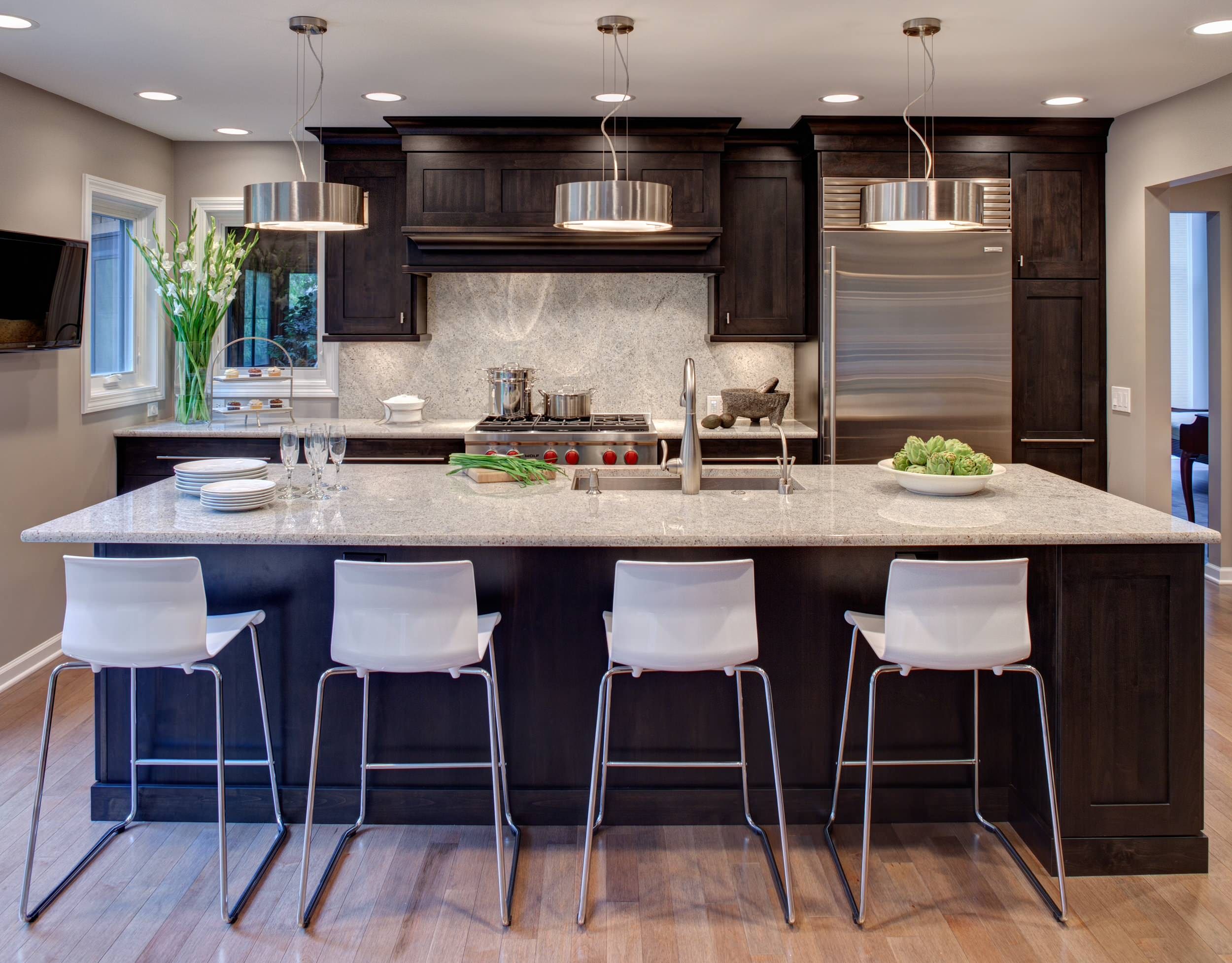 White Cabinets With Dark Granite Ideas Photos Houzz