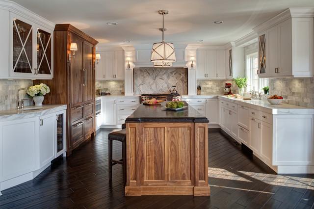 Naperville Residence Kitchen Mudroom Powder Room